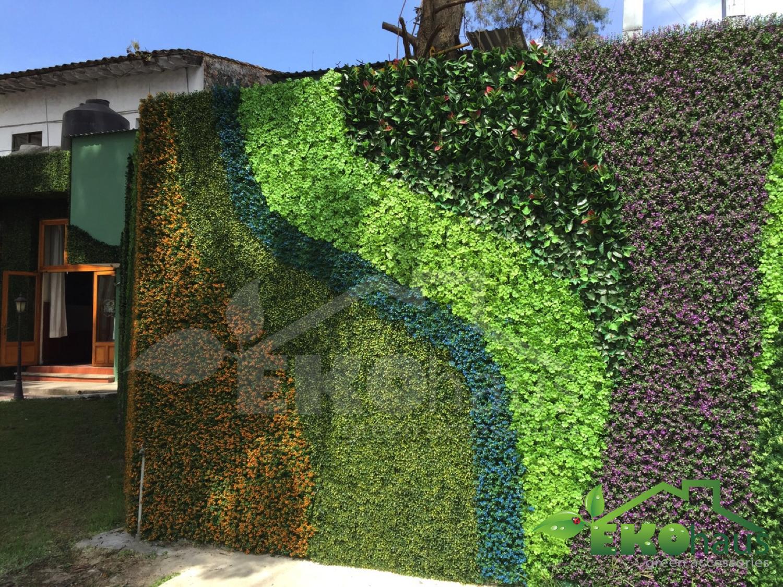 Artificial jardines verticales muros verdes plantas for Muros y fachadas verdes jardines verticales