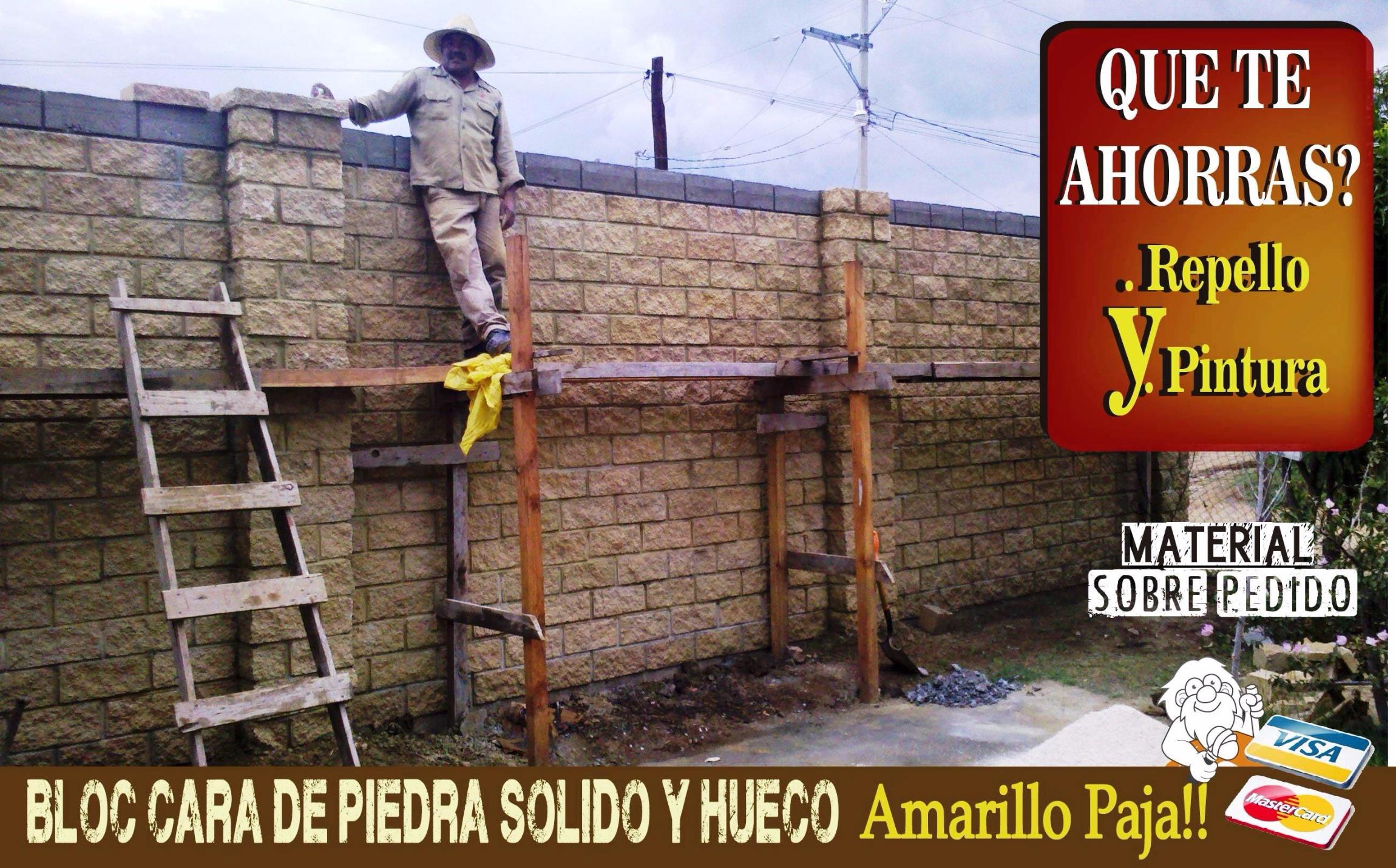 Barda amarillo paja - Construccion casa de piedra precio ...